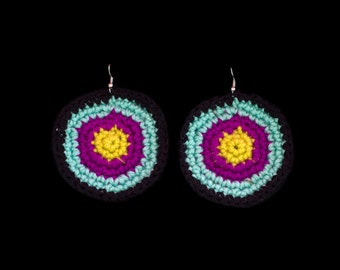 Crochet 3-Ring Circle Earrings
