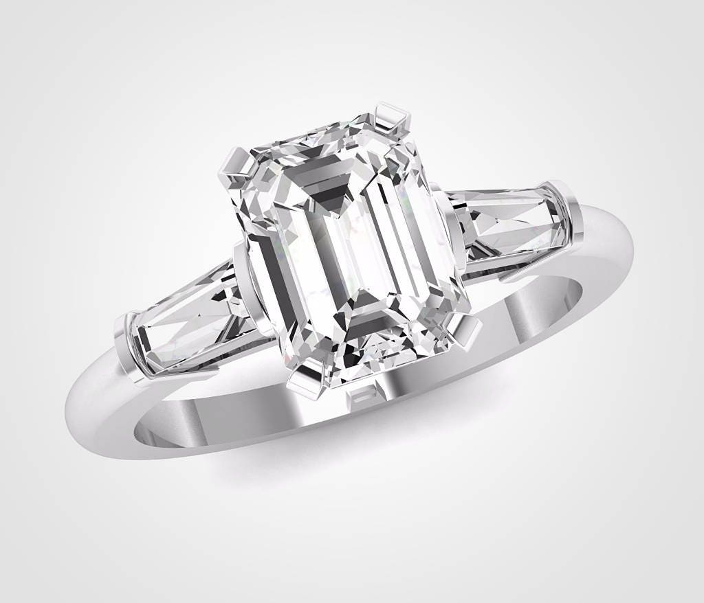 engagement of moissanite platinum solitaire images on claw unique round ring diamond rings prongs luxury best pinterest