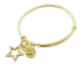 You're a Star Inspired Love Bangle Bracelet