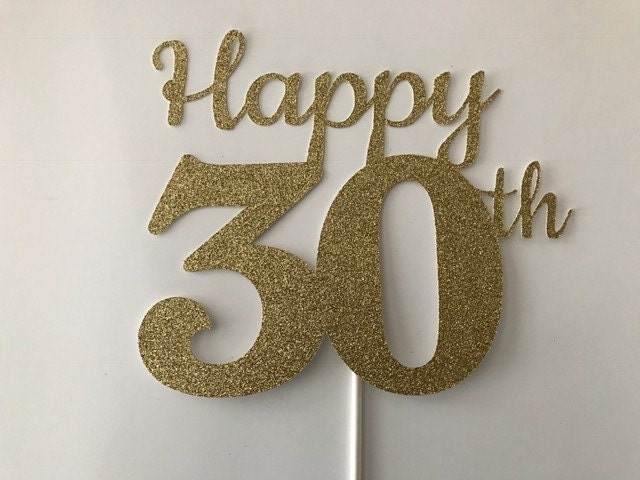 30th Birthday Cake Topper 30th Cake Topper 30 Birthday Cake Topper