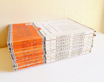 Collection of Current History Periodicals 1934 1930s Books Magazines News - 8 Issues
