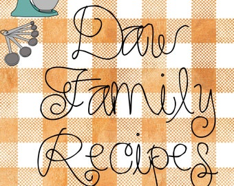 Country Kitchen Recipe Binder Cover & Recipe Cards