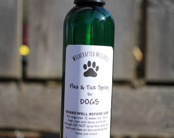 Flea and Tick Spray for Dogs, all natural