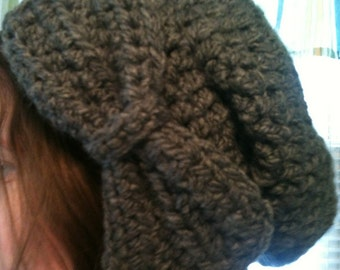 Slouchy Bow Beanie *instant download PDF pattern*