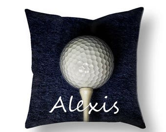 Personalized Golf Pillow Cover-Personalized Pillow Cover-Custom Sports Decor-Rectangular Pillow Cover-Suede Pillow Cover-Golf Pillow Case
