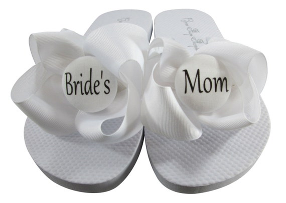 Black for Bridal of Bride Girl Bows Bridesmaids Sandals Honor Turquoise Wedges Flower Mom Flops Wedding Flip Groom's with Maid amp; rWwS0nqxr