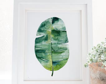 Banana leaf decor, Banana leaves art, Banana leaf wall art, Banana leaves decor, Banana leaf print, Banana leaves, Tropical leaf prints