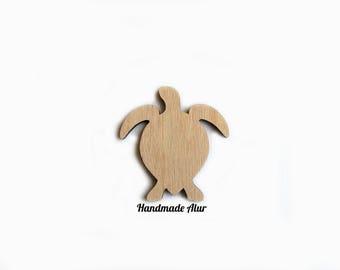 Turtle Laser Cut Out Unfinished Wood Shape Craft Supply Shapes Wood Embellishment Craft Decoration Gift Decoupage