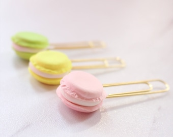 French Macaron Trio | Planner Clip | Bookmark | Polymer Clay