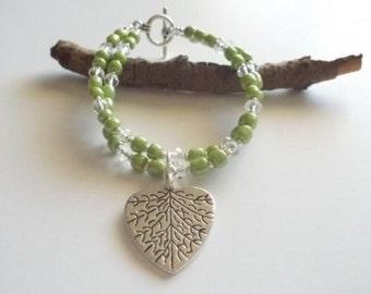 Heart Beaded Bracelet.