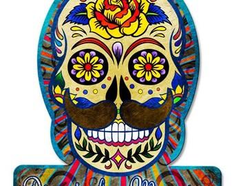 "Metal Sign "" Dia De Los Muertos / Day Of The Dead  "" 12""x15"" Man Cave"
