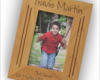 NO SALES DEACT Personalized Natural Wood Frames - 2813_7