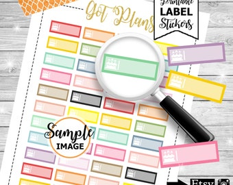 Birthday Cake Labels, Birthday Labels, Printable Planner Stickers, Planner Labels, Label Stickers, Planner Stickers, Birthday Stickers