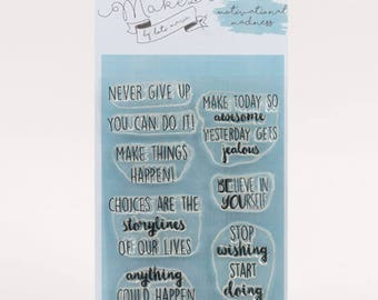 Mama Makes Stamps - Motivational Madness - 9 Stamps
