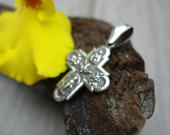 Sterling silver Four Way Cross.
