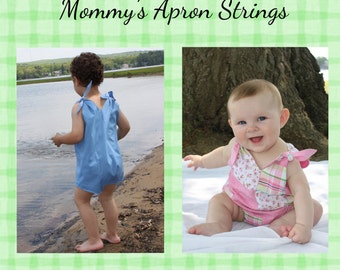 Timmy & Mary Sunsuit by Mommy's Apron Strings, Vintage 1950s Style, Quick and Easy, Tie Shoulders, PDF Sewing Pattern, Instant Download