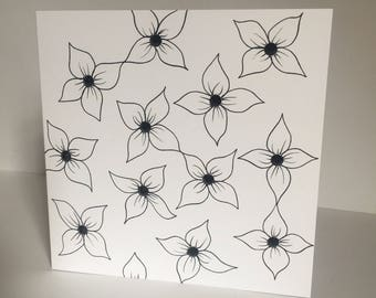 Monofloral Greetings Card