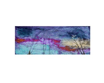 Landscape tree Print Decorative art Custom Home decor Abstract Wall art Contemporary Affordable  horizontal Winter Sky and Bare Trees
