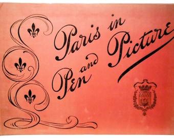 BRENTANO'S Paris in Pen & Picture Illus. Pictorial ca 1900