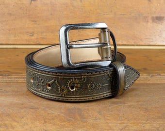 Leather Belt, tooled leather belts, western belt, mens western belt, cowboy belt, custom leather belts, handmade leather belts, Hand crafted