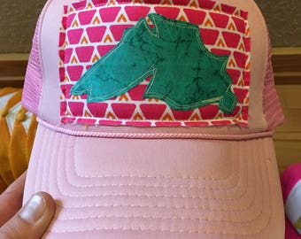 Light pink Big Lake Trucker Hat