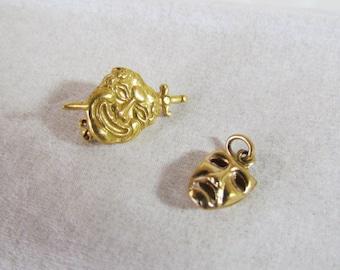 Drama Theater Mask Small Pin & Pendant