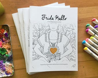 Frida Kahlo Coloring Book By Le Vent