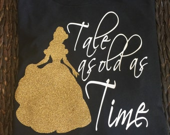 Free Shipping!! Disney Beauty and the Beast Tshirt/ Disney Princess Shirt/ Disneyworld Tshirt/ Belle Shirts