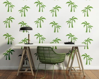 Palm Tree Decal, Beach Decor Coastal, Tree Wall Decal, Retro Wall Decal, Tropical Decor, Beach Wall Art, Modern Wall Art, Hawaiian Decor
