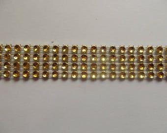 Imitation gold rhinestone Ribbon