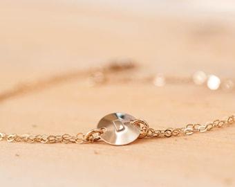 Initial Bracelet, Gold Initial Bracelet, Silver Initial Bracelet, Gold Coin Bracelet, Silver Coin Bracelet, Custom Bracelet, Mothers Neklace