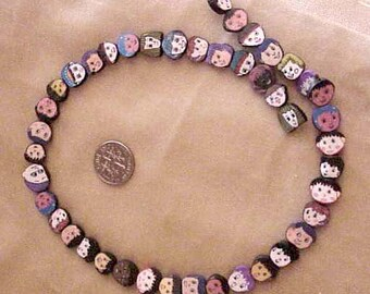 Kids Faces of the World Fimo Polymer Clay Beads 42