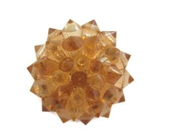 50s prism cone brooch mid century brooch plastic vintage brooch peach cone round