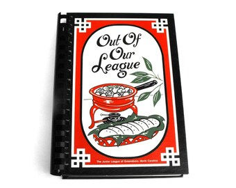 Vintage Out of Our League Cookbook Book by The Junior League of Greensboro North Carolina Hostess Tailgate Party Recipe Menu