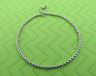 stainless steel chain anklet amd bracelet. avail in 5.5 - 10.5 inches