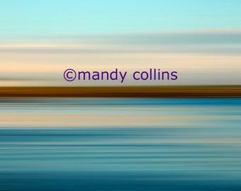 Fine Art Photography by Mandy Collins - 'Horizon 6' is an abstract artwork of a beautiful seascape at Rhosneigr, Anglesey, North Wales