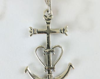 Cross - Camargue Cross Sterling Silver - 22x34mm