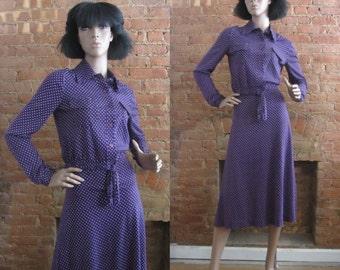1970s Diane Von Furstenberg blouse & matching skirt set | 70's DVF Boho Chic