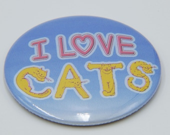 I love cats - Warrior Cats 2.25 in Magnet