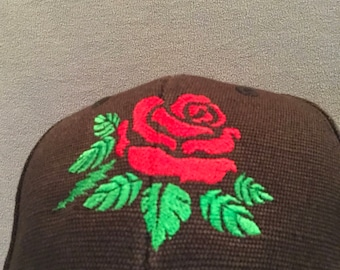 Grateful Dead inspired Rose embroidered hat