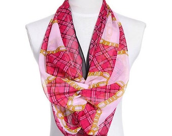Womens Scarf, Red Scarf, Floral Print Scarf, Chiffon Scarf, Voile Scarf, Cotton Scarf, Fashion Scarf, Shawl, Scarf for women, Womans Scarf