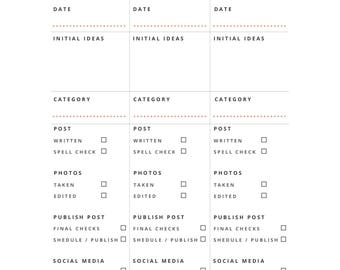 Blog Post Planner - Printable | Automatic Download!