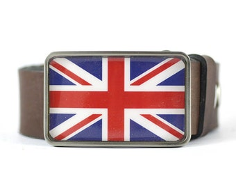 Union Jack Belt Buckle, United Kingdom, Flag Belt Buckle, men's belt buckle, gift for him, men's gift idea