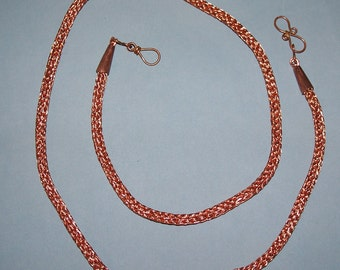 Copper Viking Knit or Viking Weave Necklace