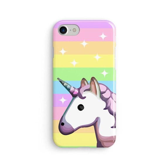 Unicorn emoji rainbow sparkle  iPhone X case - iPhone 8 case - Samsung Galaxy S8 case - iPhone 7 case - Tough case 1P044