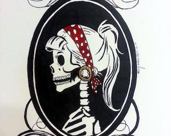 Skeleton Pinup Cameo