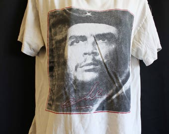 Che Guevara Vintage T Shirt Revolution Memorabilia Authentic Collectible Faded Shirt Medium