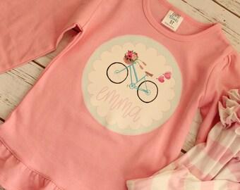 Girls Valentine Shirt; Monogrammed Valentine Shirt; Sweet Valentine Shirt; Heart Balloon Valentine Shirt; Little Girls Valentine Shirt