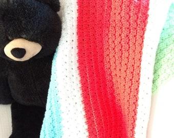 Spring Colors Baby Blanket Handmade