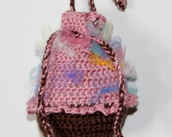 15% Off With Coupon Code DISCOUNT15 Crochet Cupcake Purse, Crochet Cupcake Bag